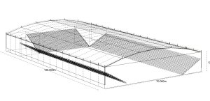 covered arena technical drawing